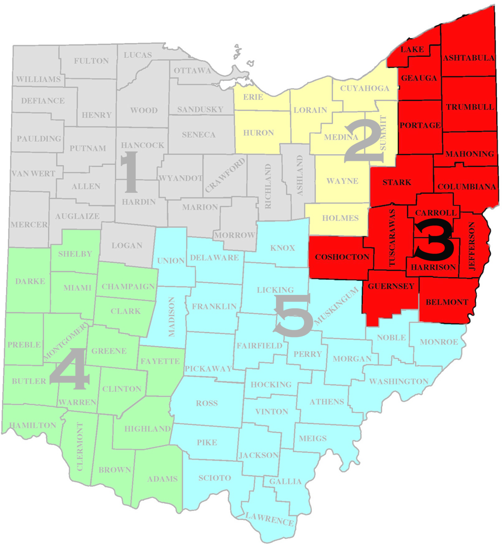 Map of North East Ohio District-3